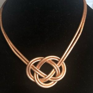 Bronze 18 inch knotted necklace